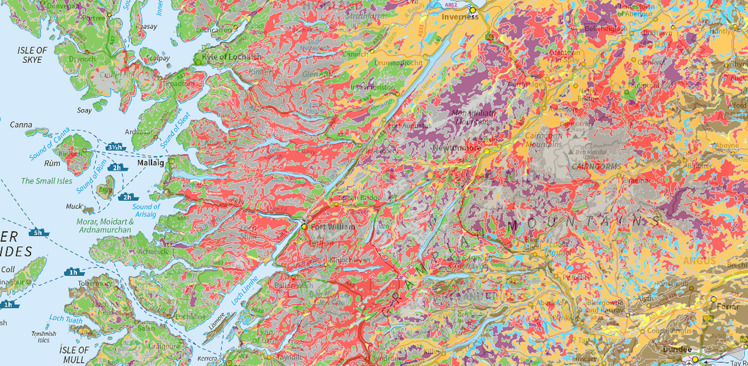 National soil map of Scotland