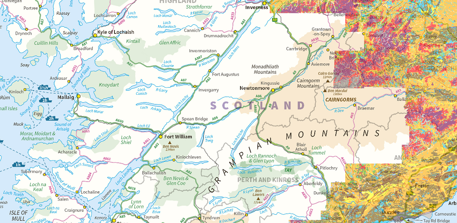 Soil map of Scotland (partial cover)