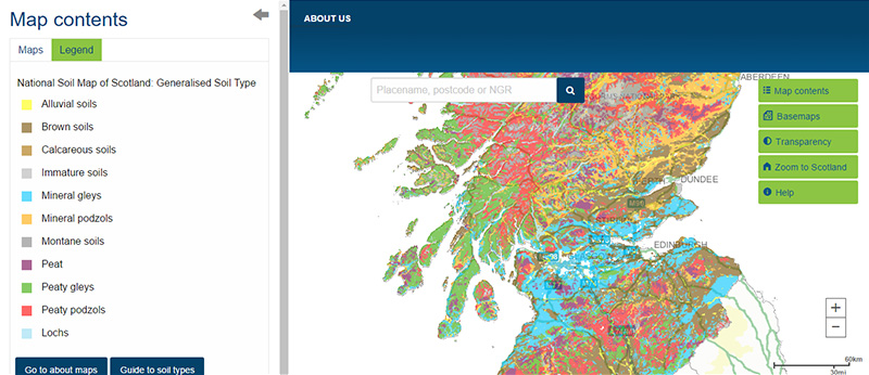 National soil map of Scotland | Scotland's soils on