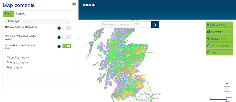 World reference base soil map scotlands soils view the map or download the data gumiabroncs Gallery