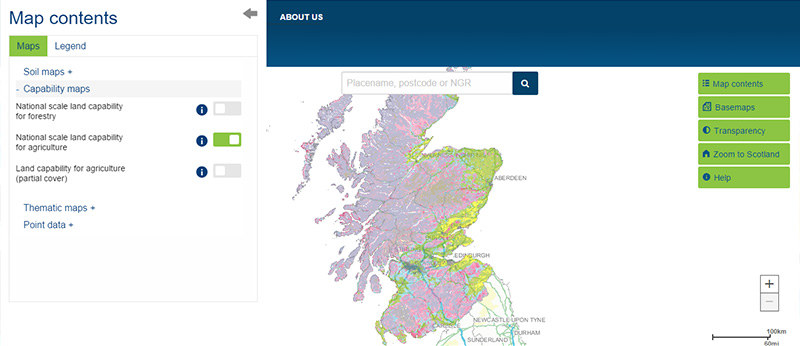National Scale Land Capability For Agriculture Scotlands Soils - Agricultural Land Us Map