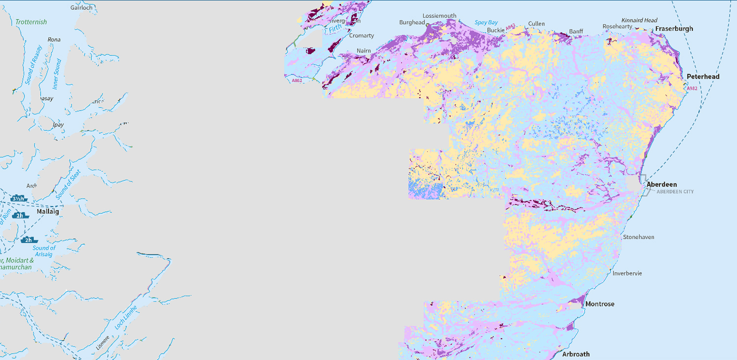 Map of soil leaching potential (partial cover)